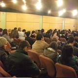 Alunos lotaram o auditório para assistir a palestra da Rodoviariaonline