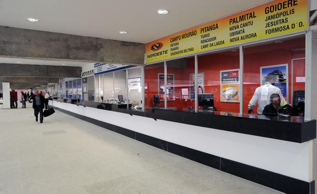 Obras para a Copa do Mundo na Rodoviária de Curitiba