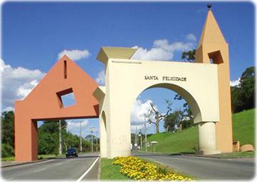 Portal de Santa Felicidade, em Curitiba