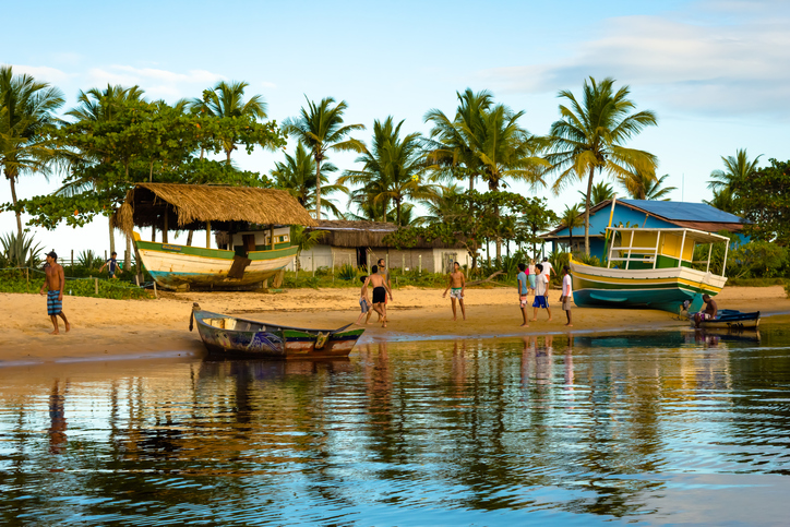 Praia de Caraíva na Bahia