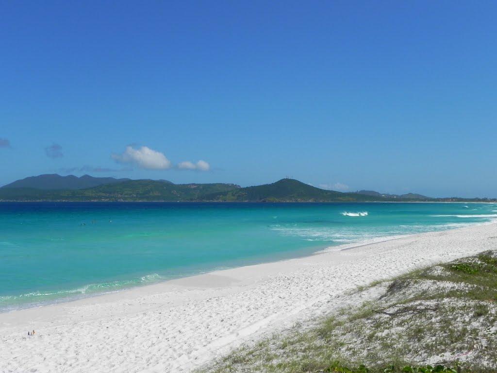 A beleza da Praia do Foguete, em Cabo Frio.