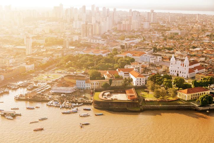 Belém do Pará vista de cima.
