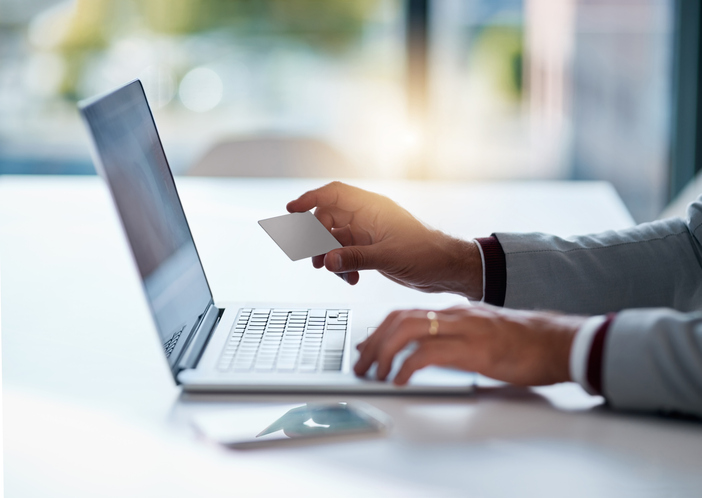 Segurança na compra online.